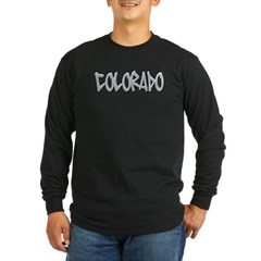 Colorado Graffiti Long Sleeve Dark T-Shirt