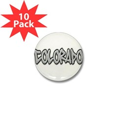 Colorado Graffiti Mini Button (10 pack)
