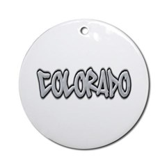 Colorado Graffiti Ornament (Round)