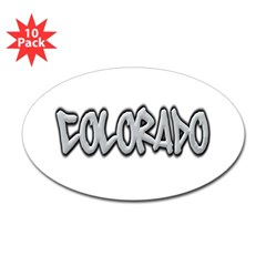 Colorado Graffiti Oval Decal 10 Pack