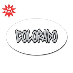 Colorado Graffiti Oval Decal 50 Pack