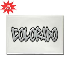 Colorado Graffiti Rectangle Magnet (10 pack)
