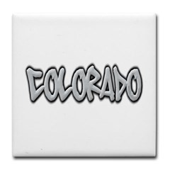Colorado Graffiti Tile Coaster