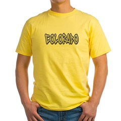 Colorado Graffiti Yellow T-Shirt