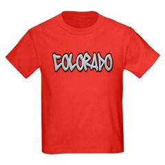 Colorado Graffiti Youth Dark T-Shirt by Hanes