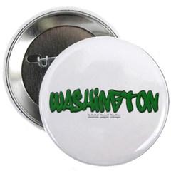 """State of Washington Graffiti 2.25"""" Button"""