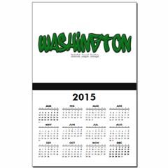 State of Washington Graffiti Calendar Print