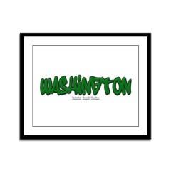 State of Washington Graffiti Framed Panel Print