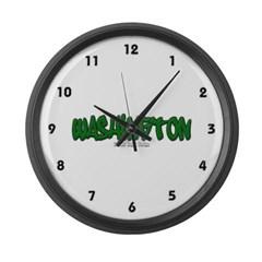 State of Washington Graffiti Large Wall Clock
