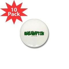 State of Washington Graffiti Mini Button (10 pack)