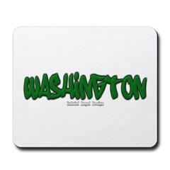 State of Washington Graffiti Mousepad