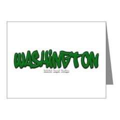 State of Washington Graffiti Note Cards (Pk of 10)