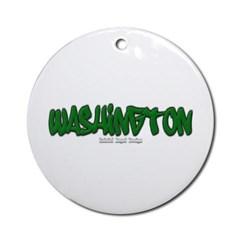 State of Washington Graffiti Ornament (Round)