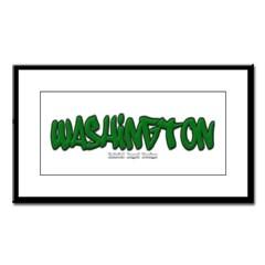 State of Washington Graffiti Small Framed Print