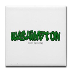 State of Washington Graffiti Tile Coaster