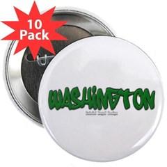 """Washington Graffiti 2.25"""" Button (10 pack)"""