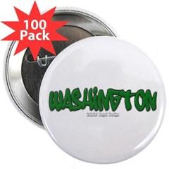 """Washington Graffiti 2.25"""" Button (100 pack)"""
