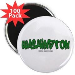 "Washington Graffiti 2.25"" Magnet (100 pack)"