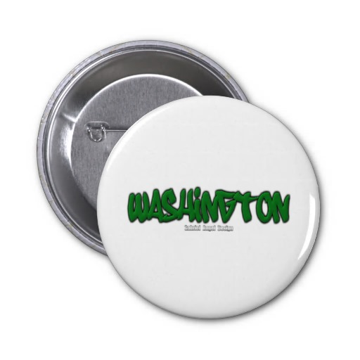 Washington Graffiti 2 Inch Round Button