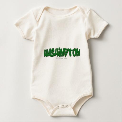 Washington Graffiti Baby American Apparel Organic Bodysuit