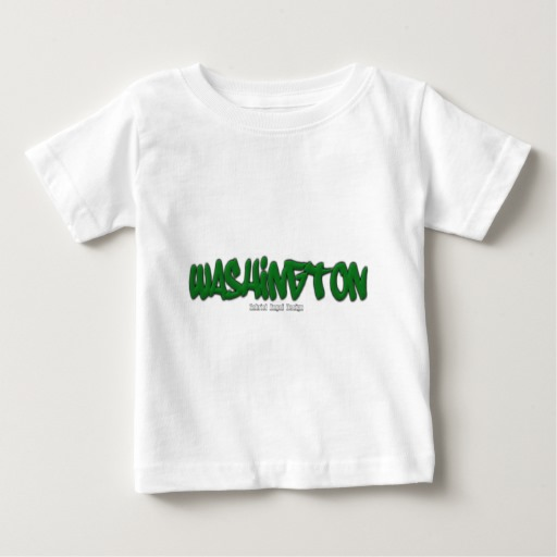 Washington Graffiti Baby Fine Jersey T-Shirt
