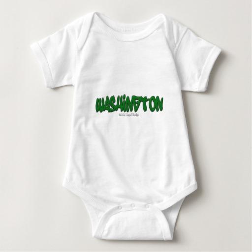 Washington Graffiti Baby Jersey Bodysuit