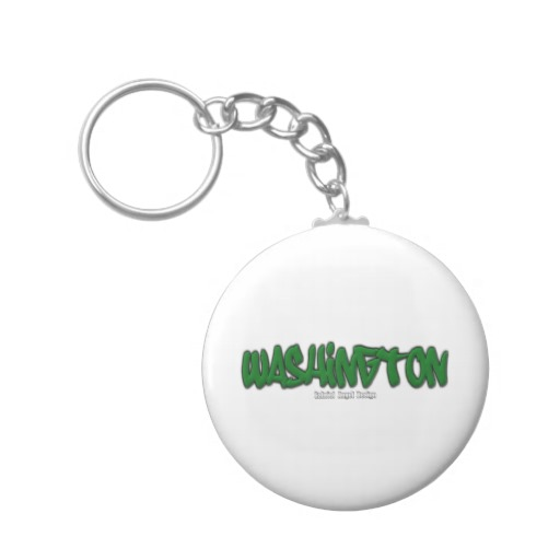 Washington Graffiti Basic Button Keychain
