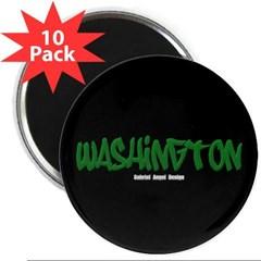 """Washington Graffiti (Black) 2.25"""" Magnet (10 pack)"""