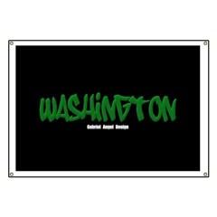 Washington Graffiti (Black) Banner