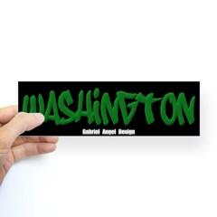 Washington Graffiti (Black) Bumper Sticker