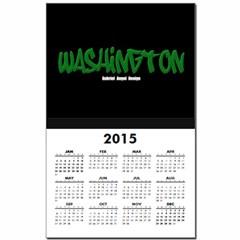 Washington Graffiti (Black) Calendar Print