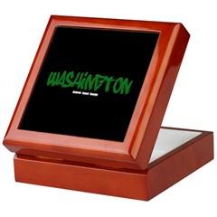 Washington Graffiti (Black) Keepsake Box