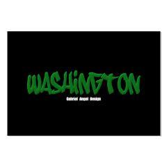 Washington Graffiti (Black) Large Posters