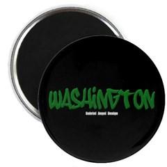 Washington Graffiti (Black) Magnet