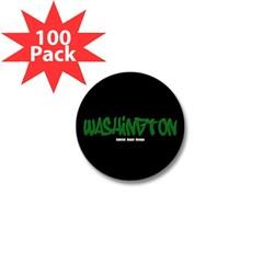 Washington Graffiti (Black) Mini Button (100 pack)