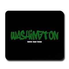 Washington Graffiti (Black) Mousepad