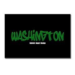 Washington Graffiti (Black) Postcards (8 Pack)