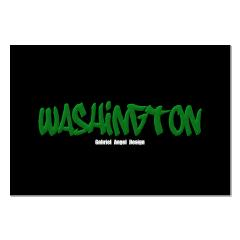 Washington Graffiti (Black) Posters