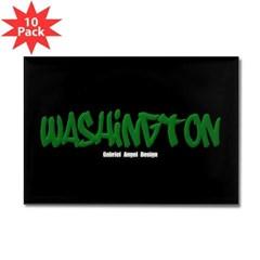 Washington Graffiti (Black) Rect. Mag. (10 pack)