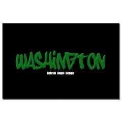 Washington Graffiti (Black) Small Posters