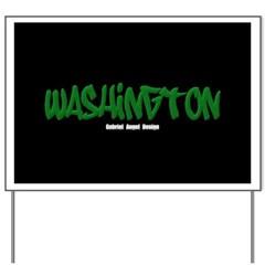 Washington Graffiti (Black) Yard Sign