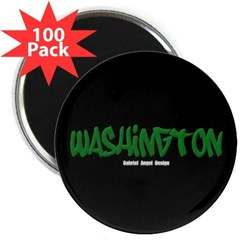 "Washington Graffiti (Blk) 2.25"" Mag. 100 pack"