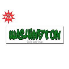 Washington Graffiti Bumper Sticker 50 Pack
