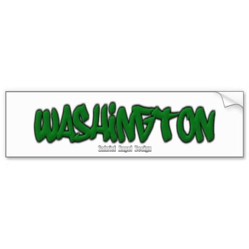 Washington Graffiti Bumper Sticker