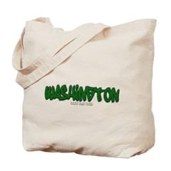 Washington Graffiti Canvas Tote Bag