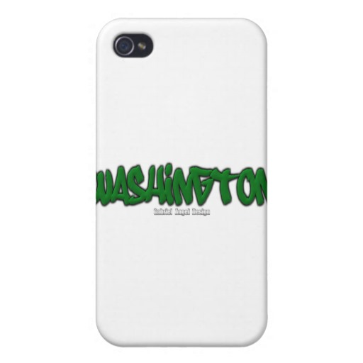 Washington Graffiti Case Savvy iPhone 4 Matte Finish Case