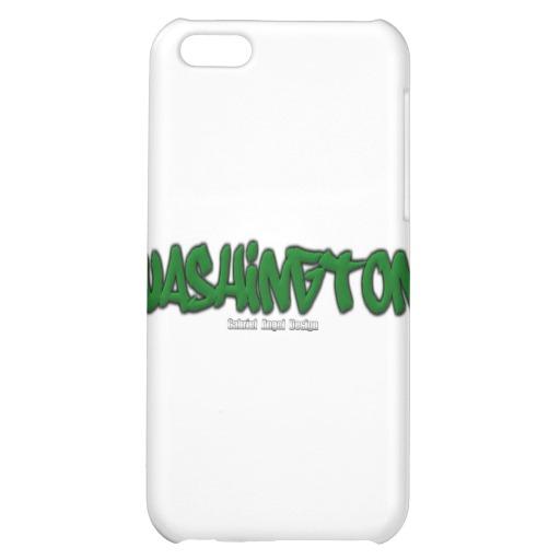 Washington Graffiti Case Savvy Matte Finish iPhone 5C Case
