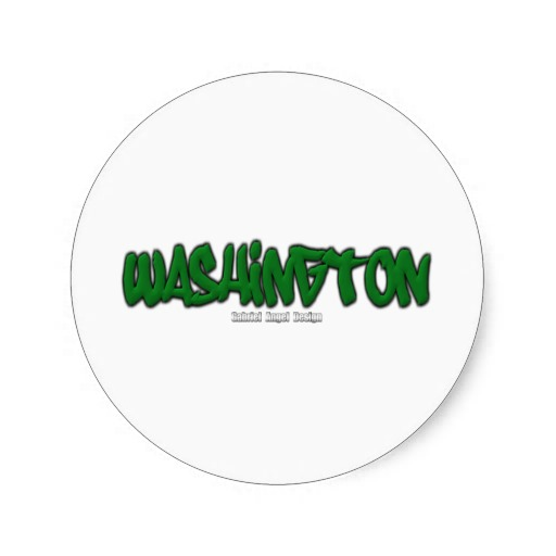 Washington Graffiti Classic Round Sticker