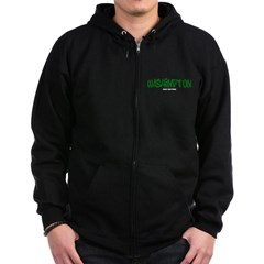 Washington Graffiti Dark Zip Hoodie