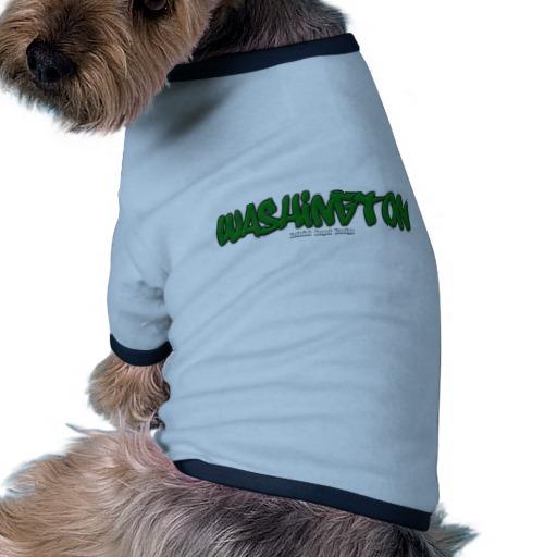 Washington Graffiti Doggie Ringer T-Shirt